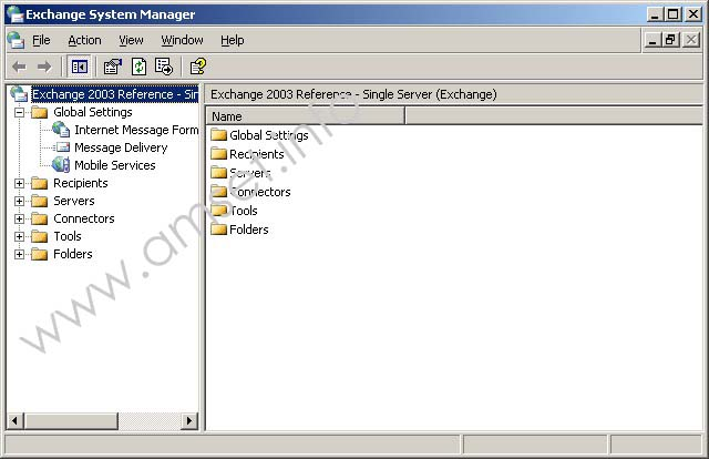 Screenshot - Exchange System Manager - Mobile Services