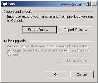 Screenshot - Outlook - Export Rules